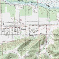 Avoca Iowa Map.Avoca Cemetery Iowa County Wisconsin Cemetery Avoca Usgs