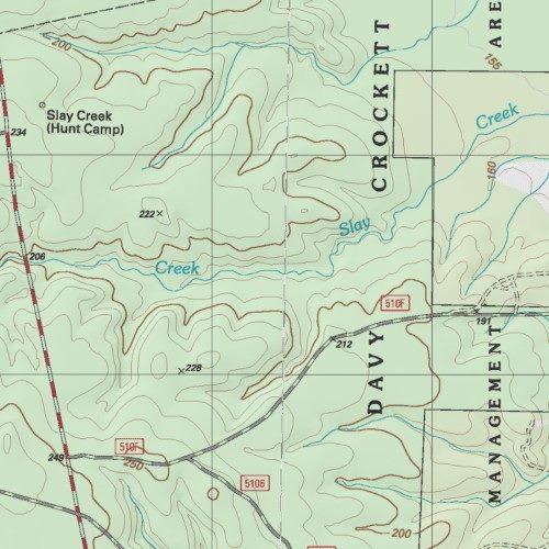 Alabama Creek WMA Trinity County Texas Park Apple Springs USGS - Detailed map of alabama