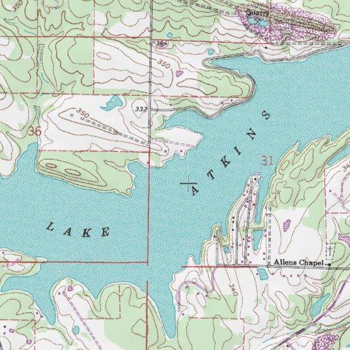 Lake Atkins Pope County Arkansas Reservoir Atkins Usgs