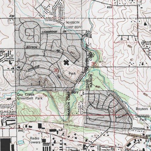 Chatham Park, Linn County, Iowa, Park [Cedar Rapids North USGS ... on