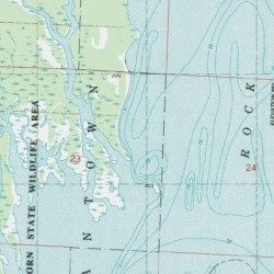Castle Rock Lake Juneau County Wisconsin Reservoir Dellwood USGS - Wisconsin topographic lake maps
