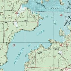 Pokegama Lake Vilas County Wisconsin Lake Lac Du Flambeau USGS - Pokegama lake map