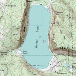 Devils Lake Sauk County Wisconsin Lake Baraboo USGS Topographic - Wisconsin topographic lake maps