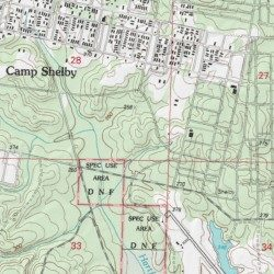 Maneuver Training Area Camp Shelby Forrest County Mississippi - Military topographic maps