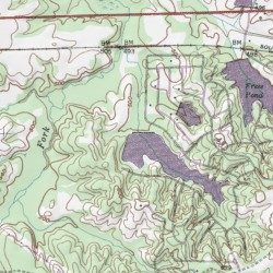 Old Hickory Lake Topographic Map.Old Hickory Lake Hardeman County Tennessee Reservoir Saulsbury