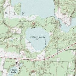 Dollar Lake Vilas County Wisconsin Lake Eagle River East USGS - Map of wisconsin lakes and rivers