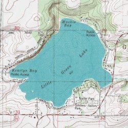 Little Green Lake Green Lake County Wisconsin Lake Markesan Usgs