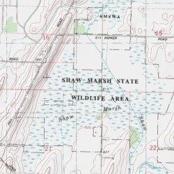 Shaw Marsh State Wildlife Area Dodge County Wisconsin Park - Map us laatitude shaw land