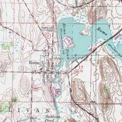Topographic Map Of Rome.Rome Pond Jefferson County Wisconsin Reservoir Rome Usgs