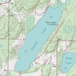 Stanley Lake Iron County Michigan Lake Iron River Usgs