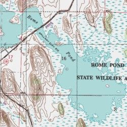 Topographic Map Of Rome.Rome Pond 114 Jefferson County Wisconsin Reservoir Palmyra Usgs