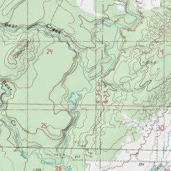 Small Bear Creek, Houghton County, Michigan, Stream [Pine