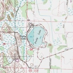 Pretty Lake Waukesha County Wisconsin Lake Eagle USGS - Pretty lake map