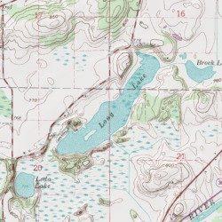 Long Lake Racine County Wisconsin Lake Burlington Usgs