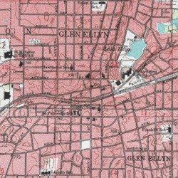 Glen Ellen Illinois Map.Glen Ellyn Dupage County Illinois Populated Place Lombard Usgs