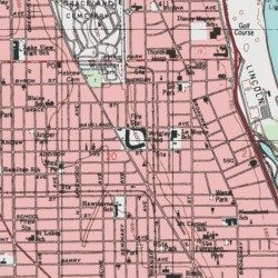 Wrigley Field Cook County Illinois Locale Chicago Loop Usgs