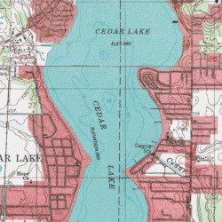 Cedar Lake Lake County Indiana Lake Lowell Usgs Topographic Map