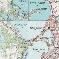 Pine Lake Laporte County Indiana Lake Laporte East Usgs
