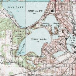 Stone Lake Laporte County Indiana Lake Laporte East Usgs