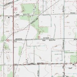 Marks Ditch Starke County Indiana Canal Bass Lake USGS - Marks lake maps