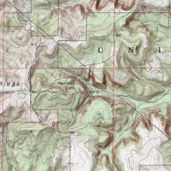 Cliff On A Topographic Map.Hemlock Cliffs Crawford County Indiana Cliff Taswell Usgs