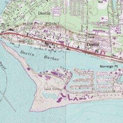 Denton Florida Map.Destin Harbor Okaloosa County Florida Bay Fort Walton Beach Usgs