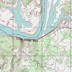 Old Hickory Lake Topographic Map.Old Hickory Lake Sumner County Tennessee Reservoir Hunters Point
