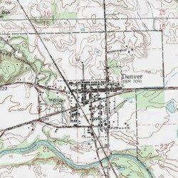 Denver Miami County Indiana Populated Place Peru Usgs