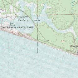 Watercolor Walton County Florida Populated Place Grayton Beach