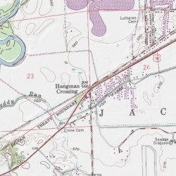 Hangman Crossing Jackson County Indiana Populated Place Seymour