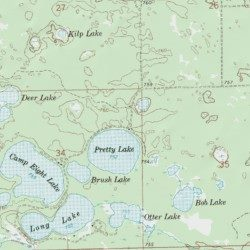 Pretty Lake State Forest Campground Luce County Michigan Locale - Pretty lake map