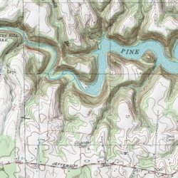 on center hill lake map