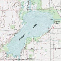 Portage Lake Michigan Map.Portage Lake St Joseph County Michigan Lake Vicksburg Usgs