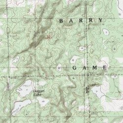 Topographic Map Game.Barry State Game Area Barry County Michigan Park Cloverdale Usgs