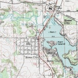 Topographic Map Of Rome.Rome City Noble County Indiana Populated Place Albion Usgs
