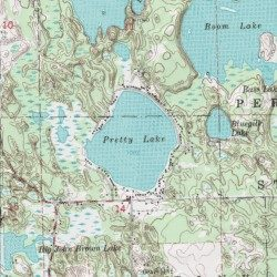 Pretty Lake Mecosta County Michigan Lake Mecosta NW USGS - Pretty lake map