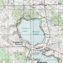Pretty Lake LaGrange County Indiana Lake Stroh USGS Topographic - Pretty lake map