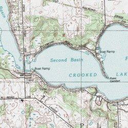 Steuben County Indiana Map.Crooked Lake Steuben County Indiana Lake Angola West Usgs
