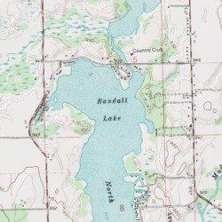 Randall Lake Branch County Michigan Lake Coldwater West Usgs