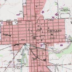 Portland Jay County Indiana Populated Place Portland Usgs