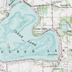Clear Lake Indiana Map.Clear Lake Steuben County Indiana Populated Place Clear Lake