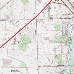 Windsor Estates Mobile Home Park Eaton County Michigan Populated Place Dimondale USGS Topographic Map By MyTopo