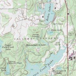 Callaway Gardens, Harris County, Georgia, Area [Pine Mountain USGS on