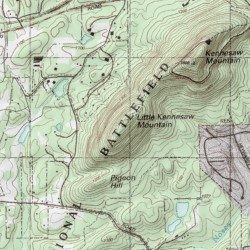 Little Kennesaw Mountain Cobb County Georgia Summit Marietta - Georgia topographic map