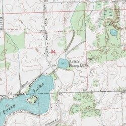 Addison Michigan Map.Little Posey Lake Lenawee County Michigan Lake Addison Usgs