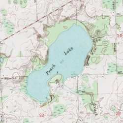 Peach Lake Ogemaw County Michigan Lake West Branch Usgs