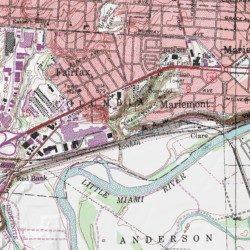 Mariemont Municipal Swimming Pool Hamilton County Ohio Park Cincinnati East Usgs Topographic