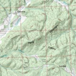 Paris Georgia Map.Paris Mountain Fannin County Georgia Summit Culberson Usgs