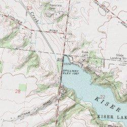 Kiser Lake Dam Champaign County Ohio Dam Saint Paris USGS - Kiser lake map
