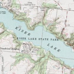 Kiser Lake Champaign County Ohio Reservoir Saint Paris USGS - Kiser lake map
